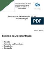 [RI] Slides Recuperação Da Informação - Trabalho (1)