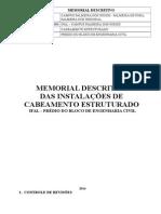 Memorial Cabeamento Estruturado -Ifal
