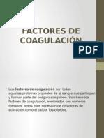Factores de Coagulación