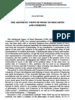 Estética Da Música Em Descartes e Comenius.