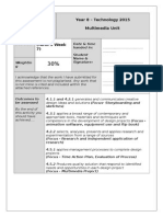 tech year8 multimedia assessment outline 2015