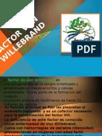 Deficiencia de Factor Von Willebrand