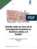¿Dónde están los focos de la investigación feminista en América Latina y el Caribe?