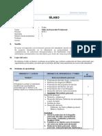 Sílabo Taller de Desarrollo Profesional 2014-1