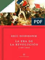 Eric Hobsbawm La Era de Las Revoluciones 1789 1848 1