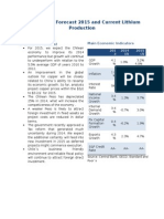 Chile Market Forecast 2015 and Current Lithium Production