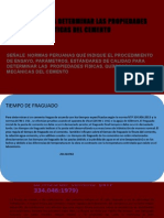 Grupo N° 1NORMAS PARA DETERMINAR LAS PROPIEDADES Y CARACTERÍSTICAS DEL CEMENTO