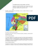 En Qué Año Se Dio La Última Guerra de Ecuador Con Perú