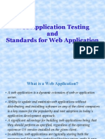Web Application Testing and Standards for Web