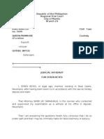 Judicial Affidavit - Family Friend