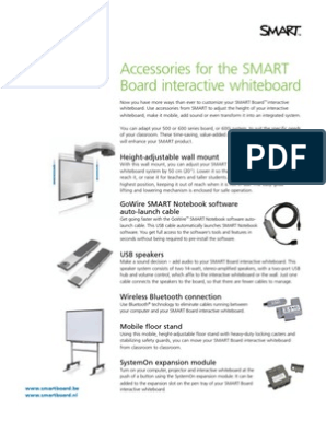 Factsheet Accessories For The Smart Board Interactive Whiteboard