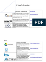 33 Tools for Researchers