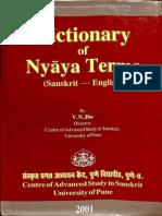 Dictionary of Nyaya Terms - V.N. Jha_Part1