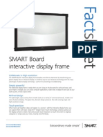 Factsheet SMART Board interactive display frame corporate ENG