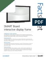 Factsheet SMART Board interactive display frame corporate ENG