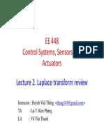 EE448 2015 Lec2 LaplaceTransform