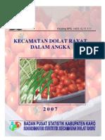 Kecamatan DOLAT RAYAT Dalam Angka 2007