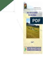 Kecamatan JUHAR Dalam Angka 2007
