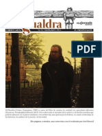 Alí Rendón entrevistado para Suplemento La Gualdra 143, La Jornada.
