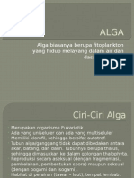 Protista Mirip Tumbuhan (Alga)