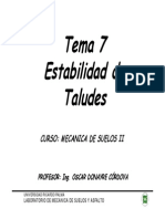 Tema 7 Estabilidad de Talud