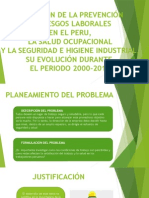 LA GESTIÓN DE LA PREVENCIÓN DE RIESGOS LABORALES EN EL PERU, LA SALUD OCUPACIONAL Y LA SEGURIDAD E HIGIENE INDUSTRIAL