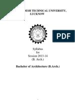 B.Arch 1st Year Syllabus