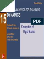 B-J CHAP15 Kinematics of Rigid Bodies