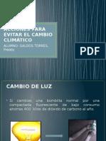 Acciones Para Evitar El Cambio Climático