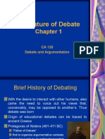 Chapter 1 Nature of Debate