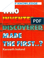 Who Invented, Discovered, Made the First..Q