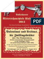 Ritterschauspiele Kiefersfelden 2014 VALENTINUS UND URSINUS