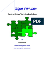 Your Right Fit Job -- Guide to Work You Love