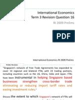 Qn 16 International Economy (FTA)