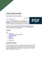 Jule Thomasan Effect