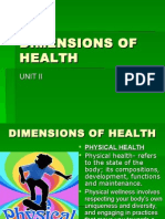 II) Dimensions of Health