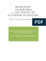 Solid works to inventor migration Code