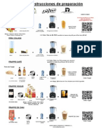Instrucciones de Preparación (Smoothies%2c Piña Colada%2c Frappés%2c Yogurt y Chai)