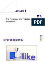 Lecture 1 the Principles and Practice of Economics