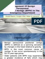 Management of Benign Paroxysmal