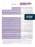 RGU Academic Calendar 2015-2016