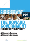 John Howard's election platform