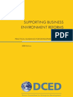 Supporting Business Environment Reforms 2008