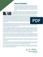 Edito du Maire - Septembre 2015