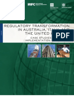 Ifc Regulatory Transformation in Australia Italy and Uk 2008(2)