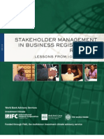 IFI Stakeholder Management in Business Registration Reforms