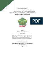 Penerapan Metode Saving Matrix dalam Penjadwalan dan Penentuan Rute Distribusi Produk di PT. Indomarco oleh Elly Wuryaningtyas