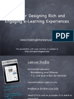 Ideas for Enriching the e-Learning Experience