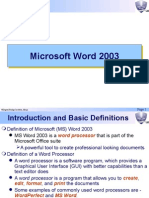 An  Introduction to MS WORD