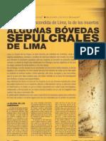 Las Bovedas Subterraneas limeñas